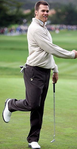 tom brady golf